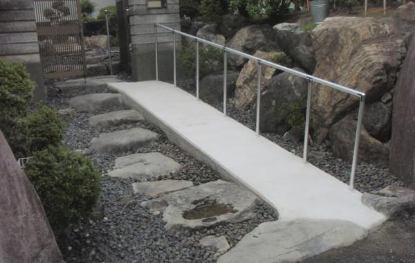 海津市 玄関スロープ設置工事