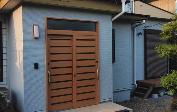 三重県桑名市K様邸 玄関引き戸新設工事