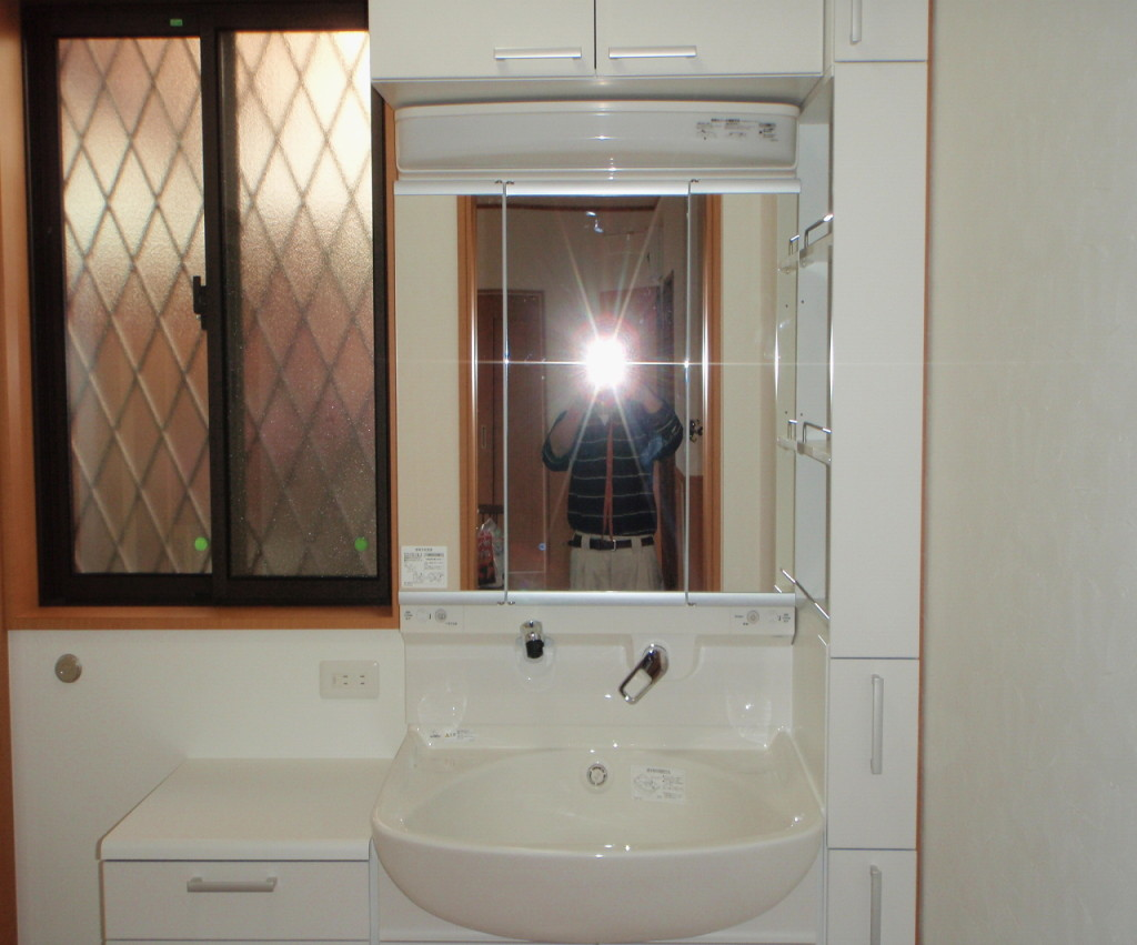 三重県桑名市 新たに洗面台設置工事後