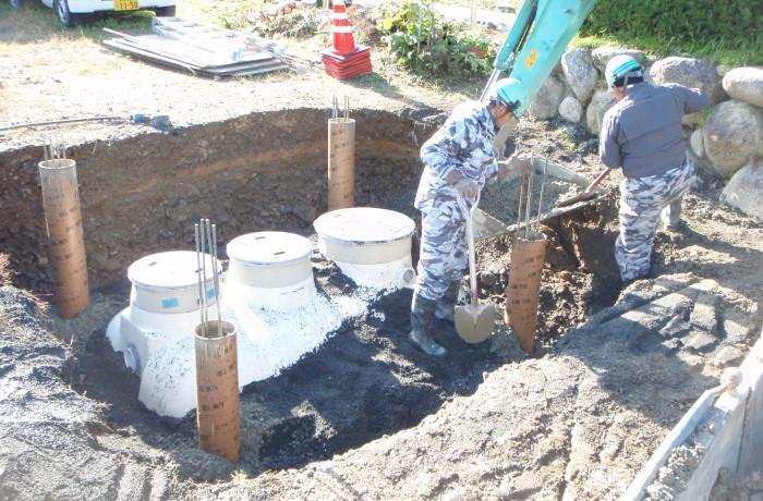小型合併浄化槽工事(養老町)
